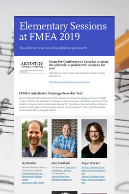 Elementary Sessions at FMEA 2019