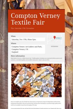 Compton Verney Textile Fair