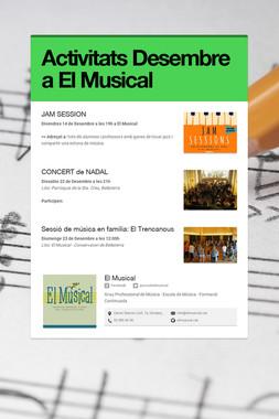 Activitats Desembre a El Musical