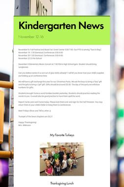 Kindergarten News