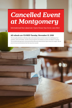 Cancelled Event at Montgomery