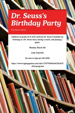 Dr. Seuss's Birthday Party