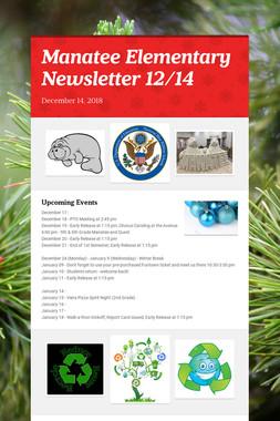 Manatee Elementary Newsletter 12/14