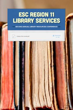 ESC Region 11 Library Services
