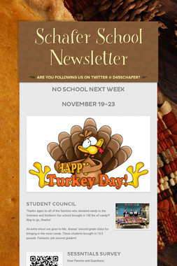 Schafer School Newsletter