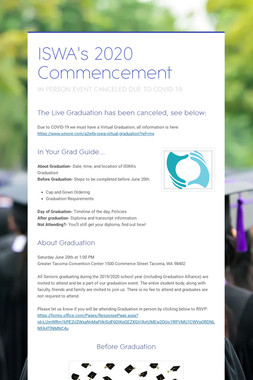ISWA's 2019 Commencement
