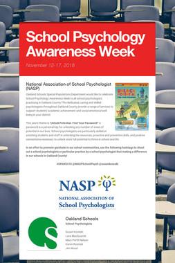 School Psychology Awareness Week