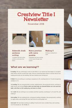 Crestview Title I Newsletter