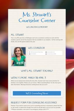 Ms. Stewart's Counselor Corner