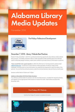 Alabama Library Media Updates