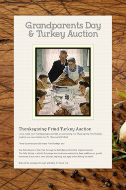 Grandparents Day & Turkey Auction