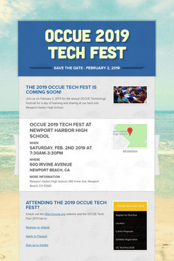 OCCUE 2019 Tech Fest