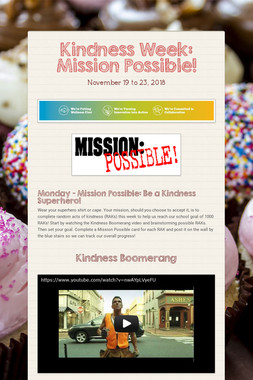 Kindness Week: Mission Possible!