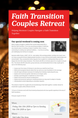 Faith Transition Couples Retreat