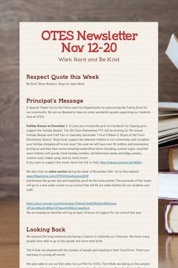 OTES Newsletter Nov 12-20