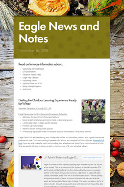 Eagle News and Notes