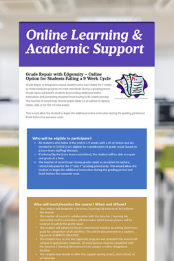 Online Learning & Academic Support