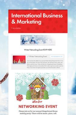 International Business & Marketing
