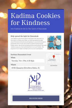 Kadima Cookies for Kindness