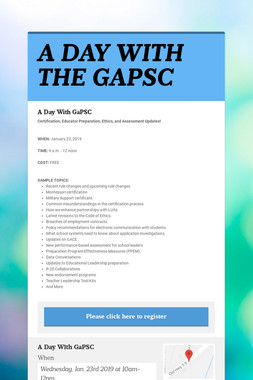 A DAY WITH THE GAPSC