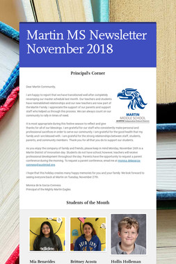 Martin MS Newsletter November 2018