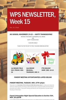 WPS NEWSLETTER, Week 15
