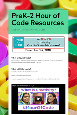 PreK-2 Hour of Code Resources