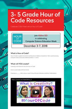 3- 5 Grade Hour of Code Resources