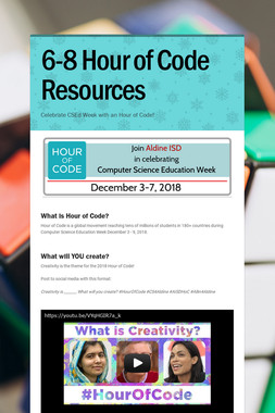 6-8 Hour of Code Resources