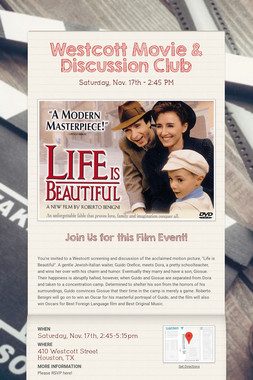 Westcott Movie & Discussion Club
