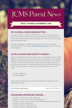 JCMS Parent News