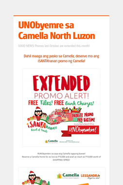 UNObyemre sa Camella North Luzon