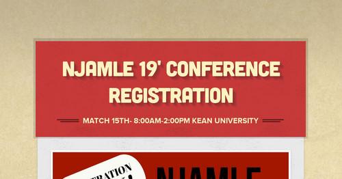 NJAMLE 19' Conference Registration   Smore Newsletters