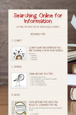 Searching Online for Information