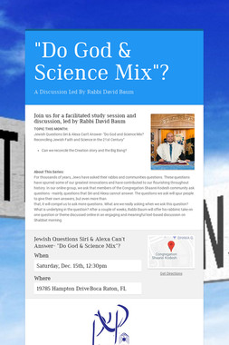 """Do God & Science Mix""?"