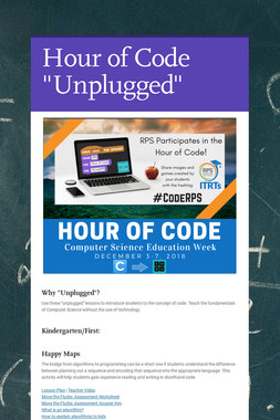 "Hour of Code ""Unplugged"""