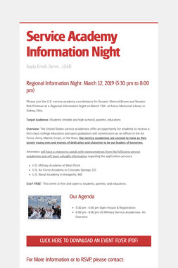 Service Academy Information Night