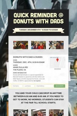 Quick Reminder @ Donuts with Dads