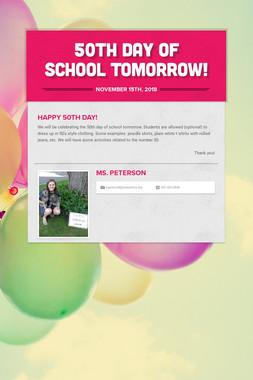 50th Day of School Tomorrow!