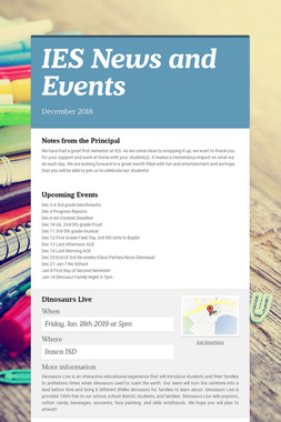 IES News and Events