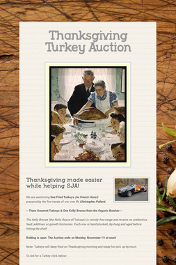 Thanksgiving Turkey Auction