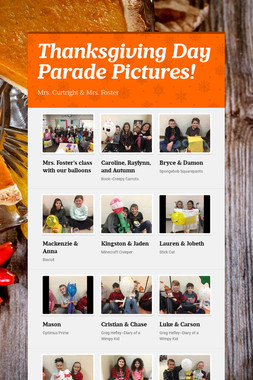 Thanksgiving Day Parade Pictures!