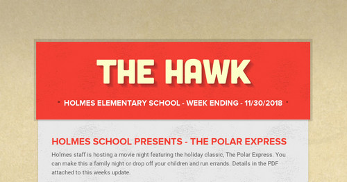 The Hawk | Smore Newsletters for Education