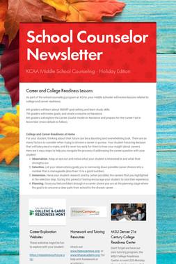 School Counselor Newsletter