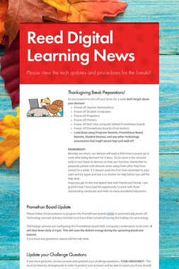 Reed Digital Learning News