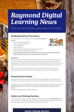 Raymond Digital Learning News