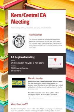 Kern/Central EA Meeting