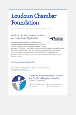 Loudoun Chamber Foundation