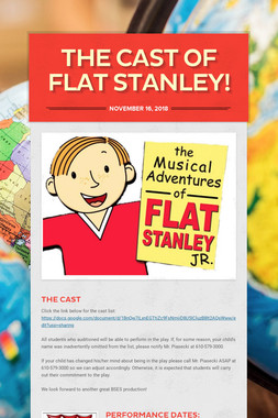 The Cast of Flat Stanley!