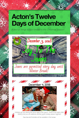 Acton's Twelve Days of December